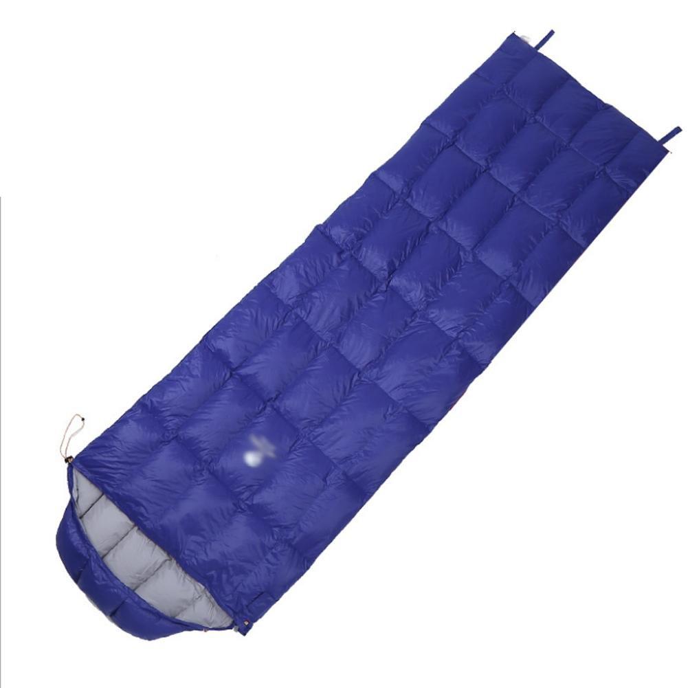Sac ultra léger de couchage en duvet pour adultes Outdoor camping Voyage randonnée personne bleu (190+30) 72