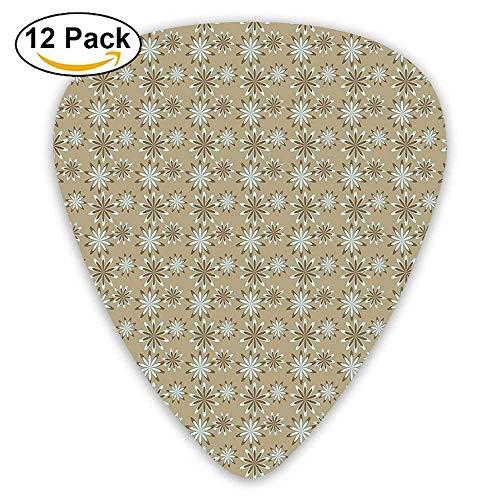 - Vintage Victorian Trends Inspired Artistic Flower Chevron Ornate Display Guitar Picks 12/Pack