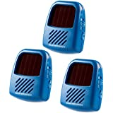 ISOTRONIC, 3 Pack, Solar Powered Ultrasonic Pest Repeller, Set of 3, Repel Mosquito Mice Rat Cockroach Marten Bug by Ultrasound