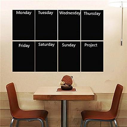 cococina 8pcs Negro A4 papel adhesivo para pared con pizarra ...