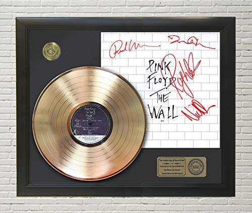 "PINK FLOYD - THE WALL FRAMED GOLD LP REPRODUCTION SIGNATURE DISPLAY""M4"""