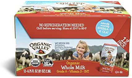 Shelf-Stable Milk: Organic Valley Whole