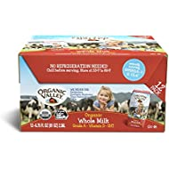Organic Valley Whole Milk, Ultra Pasteurized, 6.75 Ounce (Pack of 12)