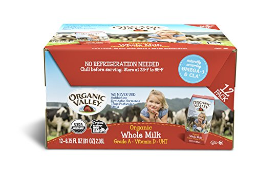 Organic Valley, Organic Milk Boxes, Whole Milk, 6.75 Ounces (Pack of...