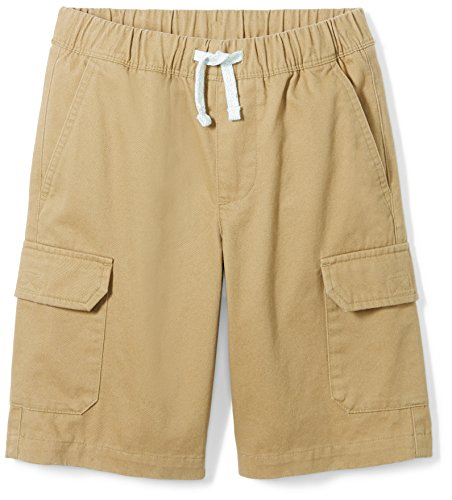 Amazon Brand - Spotted Zebra Boys' Big Kid Cargo Shorts, Dark Khaki, Large (10)