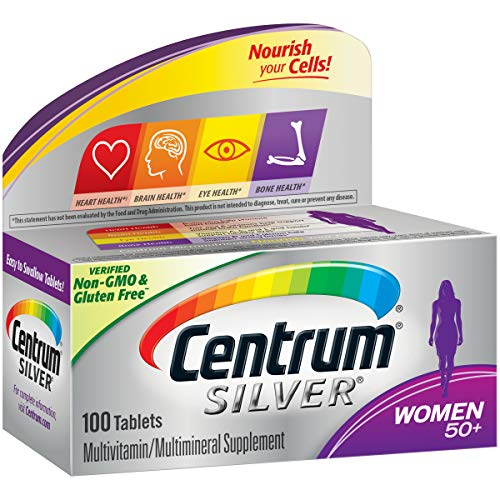 Centrum Silver Women (100 Count) Multivitamin / Multimineral Supplement Tablet, Vitamin D3, Age 50+