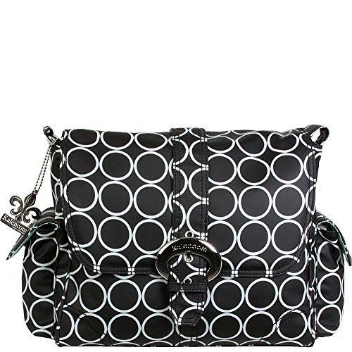- Kalencom Midi Coated Buckle Bag (Black Holes) by Kalencom