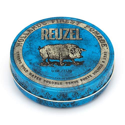Pomada Reuzel azul sujecion fuerte y alto brillo