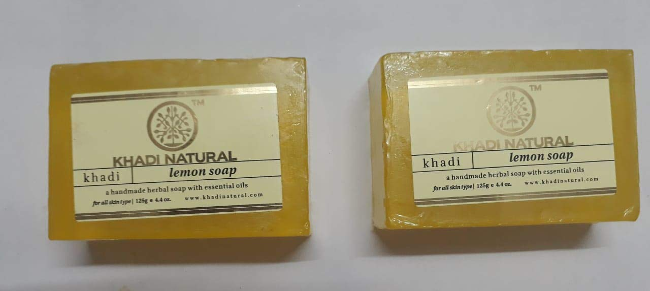 Khadi Lemon Soap, 125g (Pack of 2)