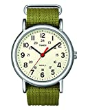 Timex Unisex T2N651 Weekender Olive Nylon Slip-Thru Strap Watch: more info