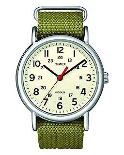 Timex Unisex T2N651 Weekender Olive Nylon Slip-Thru Strap Watch (B004VR9HP2) | Amazon price tracker / tracking, Amazon price history charts, Amazon price watches, Amazon price drop alerts
