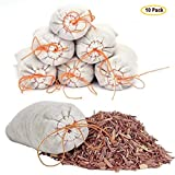 Venxic Household Storage Essentials Moth Repellent Sachets With Natural Cedar Chips for Clothing Closets and Drawers Moth Protection - 10 Packs