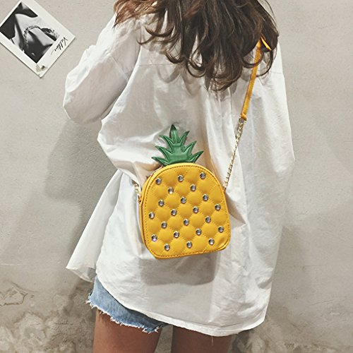 Hombro Circular Piña Parte Bolso De Yellow Cruzado Mujer yellow Superior Del Wlwwy La Monedero Bolsas Asa Accesorios Forma w6xz8qI