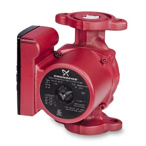 3-Speed Grundfos Pump Hot Water Circulator Pump Model UPS15-58FC; 115V (Heating Circulator)