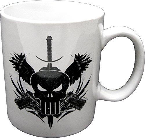 Mugs Marvel Extreme The Punisher Guns Mug, 12-Ounce, White ()