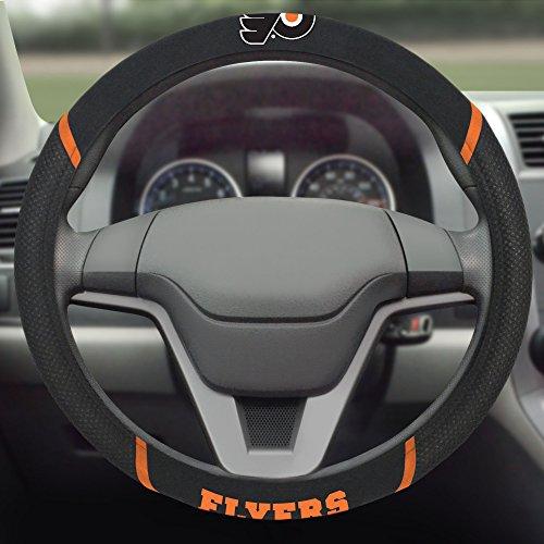 FANMATS NHL Philadelphia Flyers Polyester Steering Wheel Cover