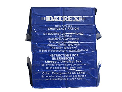 Datrex 3600 Calorie Emergency Food Bar for Survival Kits, Disaster Preparedness, Survival Gear, Survival Supplies, Schools Supplies, Disaster Kit 1 pack