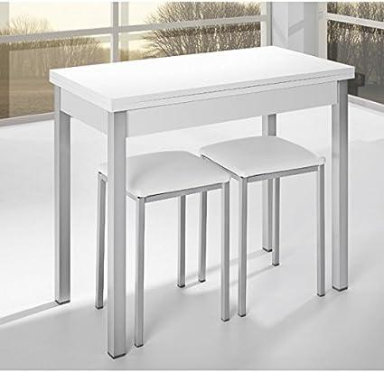 Tavolo Da Cucina Di 90 X 40 Cm Con Apertura Libro E Coperchio In Legno Laminato In Bianco Amazon It Casa E Cucina