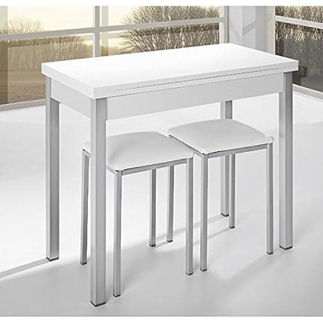 SHIITO Mesa de Cocina de 90x40 cm con Apertura Libro y Tapa ...