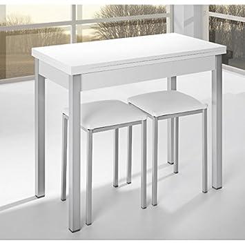 Mesa de cocina de 90x40 cm con apertura libro y tapa de madera ...
