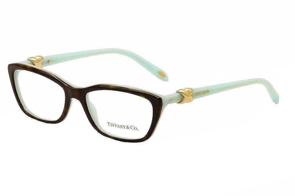 0a72b723a9f5 Amazon.com  Tiffany   Co. TF2074 - 8134 Eyeglass Frame TOP HAVANA BLUE  52mm  Shoes