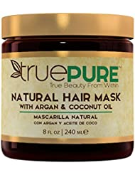 TruePure Natural Hair Mask With Argan Oil, Coconut Oil...