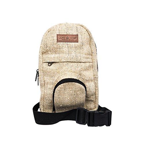 Core Hemp Sling Bag Shoulder Backapck Chest Pack With Adjustable Strap For Men And Women