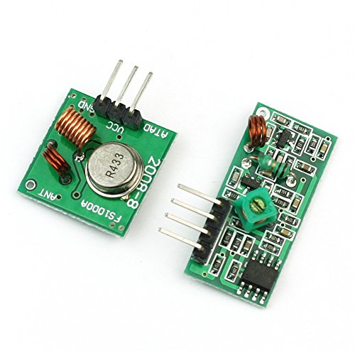 RF Wireless Transmitter and Receiver Link Kit Module 433Mhz for Arduino by (Transmitter Module)