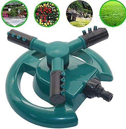 FANPING Jardín de riego, Grado 360 rotatorio automático de pulverización de Efecto Invernadero Jefe del césped del jardín de Tres Brazos de riego por aspersión abastecimientos de Agua, B