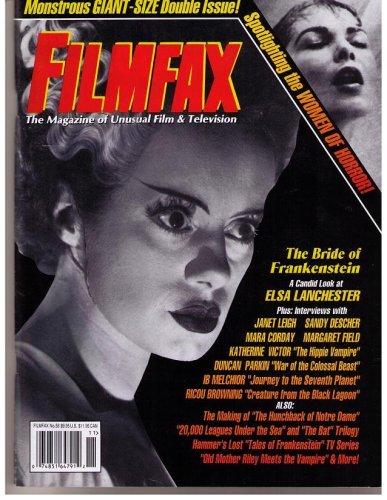 FILMFAX #58 MAGAZINE (Oct 1996)(ELSA LANCHESTER in BRIDE OF FRANKENSTEIN cover!)(Unusual Film & Television)