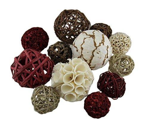 Zeckos 18 Pc. Exotic Dried Organic Decorative Spheres