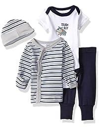 Baby Preemie 4 Piece Pant, Bodysuit, Shirt, Cap Set