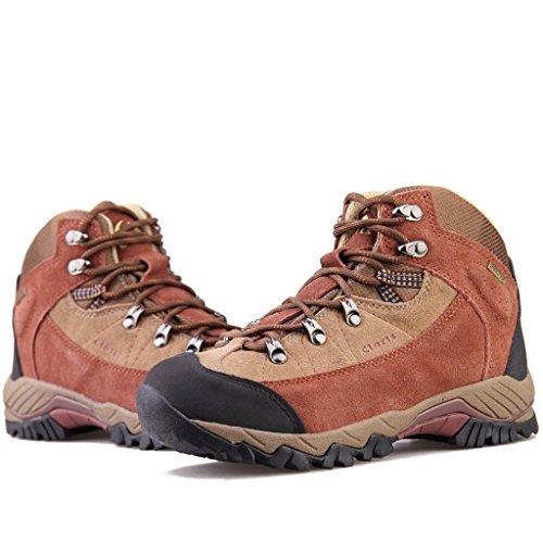 Clorts Womens Scamosciati Uneebtex Impermeabile Medio Escursionismo Stivale Outdoor Backpacking Scarpa 3b010 Rosso Mattone
