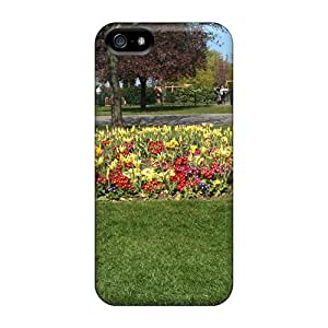 Fashionable AIkGL4032kvGUE Iphone 5/5s Case Cover For Flowers At The Park Protective Case