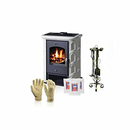 Estufa de leña Victoria 05, modelo Venecia, salida de calor 12 kW + accesorios
