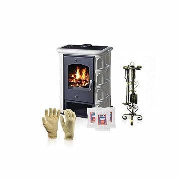 Estufa de leña Victoria 05, modelo Venecia, salida de calor 12 kW + accesorios de regalo: Amazon.es: Bricolaje y herramientas