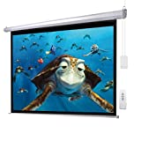 100'' 4:3 Electric Screen Matte White Projector Projection RC Auto Remote Control US/110V