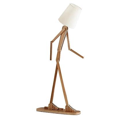 TangMengYun Lámpara de pie de madera nórdica creativa ...