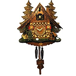 409Q - Engstler Battery-operated Cuckoo Clock - Full Size - 12H x 12W x 7D