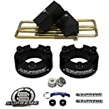 "Supreme Suspensions - Frontier Lift Kit Full Suspension Lift 3"" Front Suspension Lift + 2"" Rear Suspension Lift CNC Machined T6 Aircraft Billet (Black) Easy Install Nissan Frontier Leveling Kit PRO"