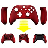 eXtremeRate Scarlet Red Soft Touch Faceplate Cover, Front Housing Shell,Soft Grip Back Panels for Microsoft Xbox One X & One S Controller