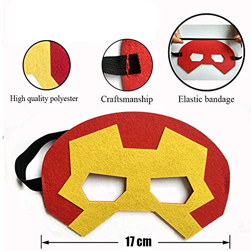 SouthStar Masques de Super-Héros, 15 PiècesMasques de Déguisement pour Enfants, Masques de Super-Héros Cosplay Parfaits pour Une Fete d'anniversaire