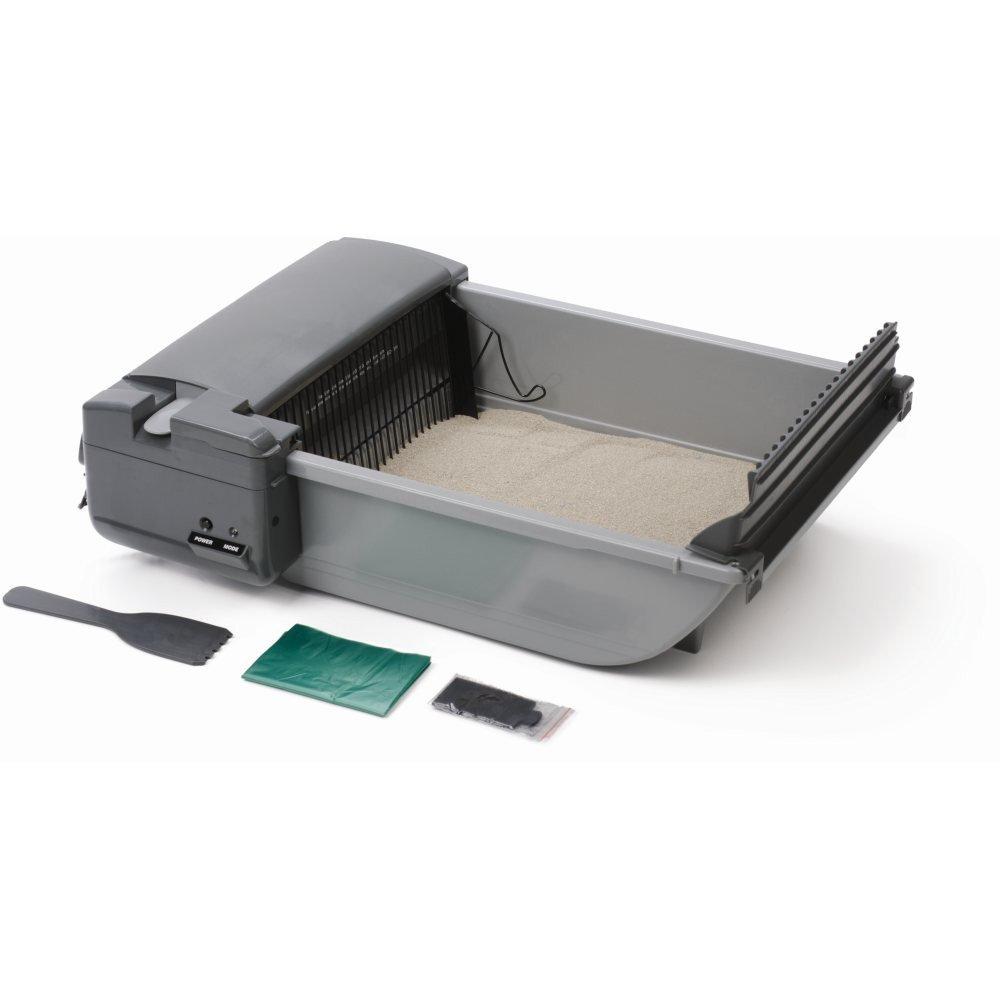 Our Pets Deluxe SmartScoop Self-Scooping Litter Box Gray 25.5'' x 18.25'' x 7.5'' by SmartScoop
