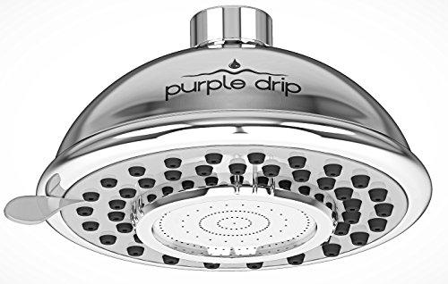 Starck 2 Toilet Set (PurpleDrip High Pressure 2.5 GPM Shower Head, Chrome Finish)