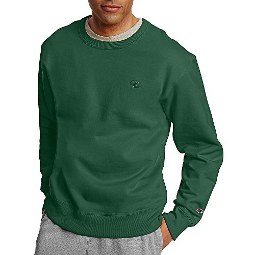 Champion by Men's Powerblend Fleece Pullover Sweatshirt_Dark Green_2XL ()