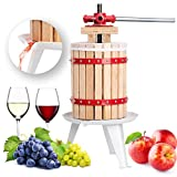 FISTERS 18L Wood Fruit Wine Press Cider Apple Grape Crusher Juice Maker Tool