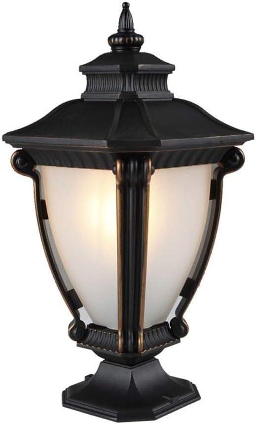 MUMUMI Columna exterior europea lámpara de la linterna de la puerta pared del patio de césped