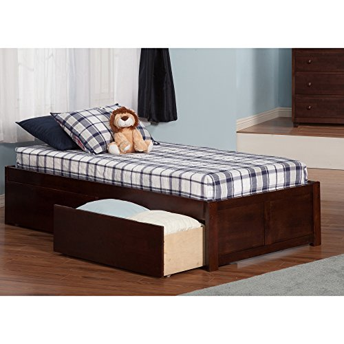 Atlantic Furniture Atlantic Concord Walnut Twin Flat-panel Footboard 2-drawer (Atlantic Furniture Panel)