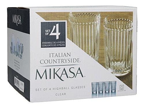 Mikasa Italian Countryside Highball Glass, Clear, 12-Ounce, Set of 4 by Mikasa (Image #1)