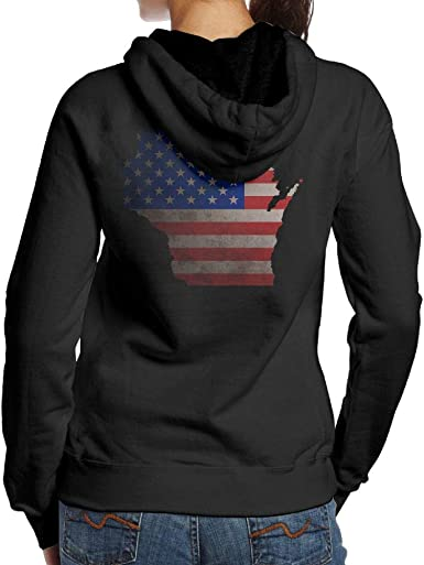 BB/&YYY Wisconsin Map Home Mens Pullover Hoodie Sweatshirt Back Print Hoodies